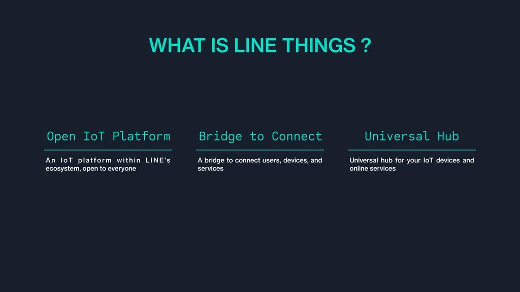 WHAT IS LINE THINGS ? A n I o T p l atfo r m w ...