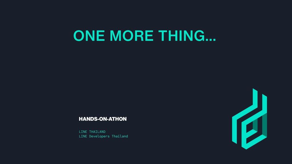 HANDS-ON-ATHON LINE THAILAND LINE Developers Th...