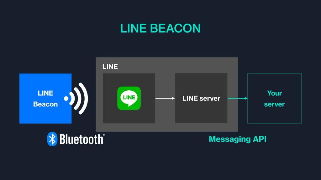 LINE Beacon LINE LINE server Your server LINE B...