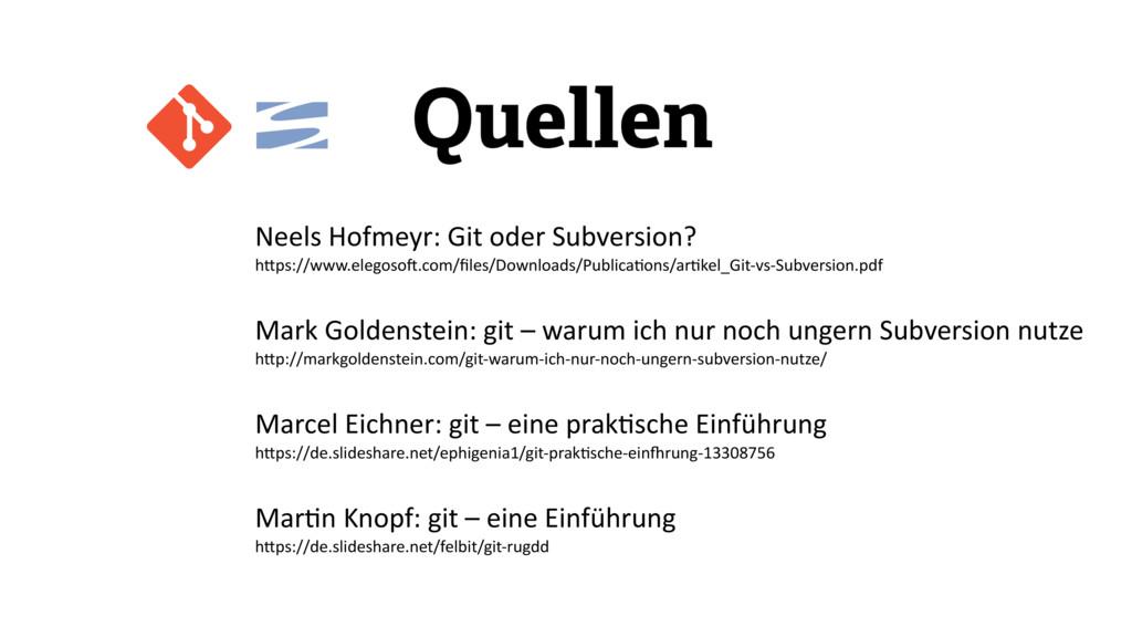 Neels Hofmeyr: Git oder Subversion?...