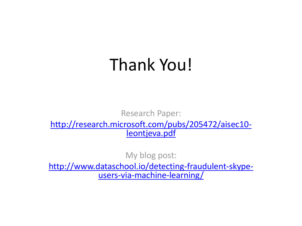Thank You! Research Paper: http://research.micr...
