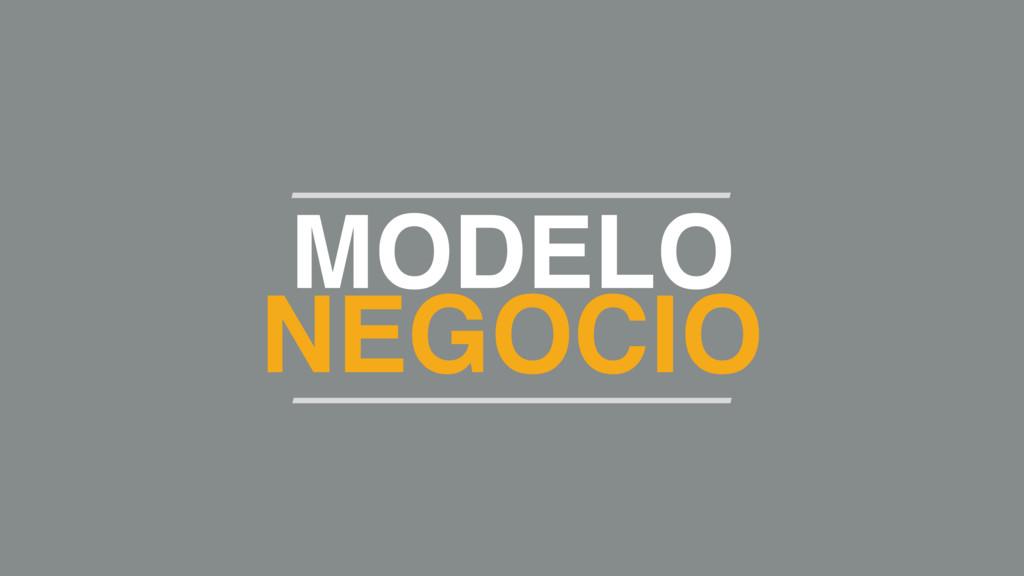 MODELO NEGOCIO
