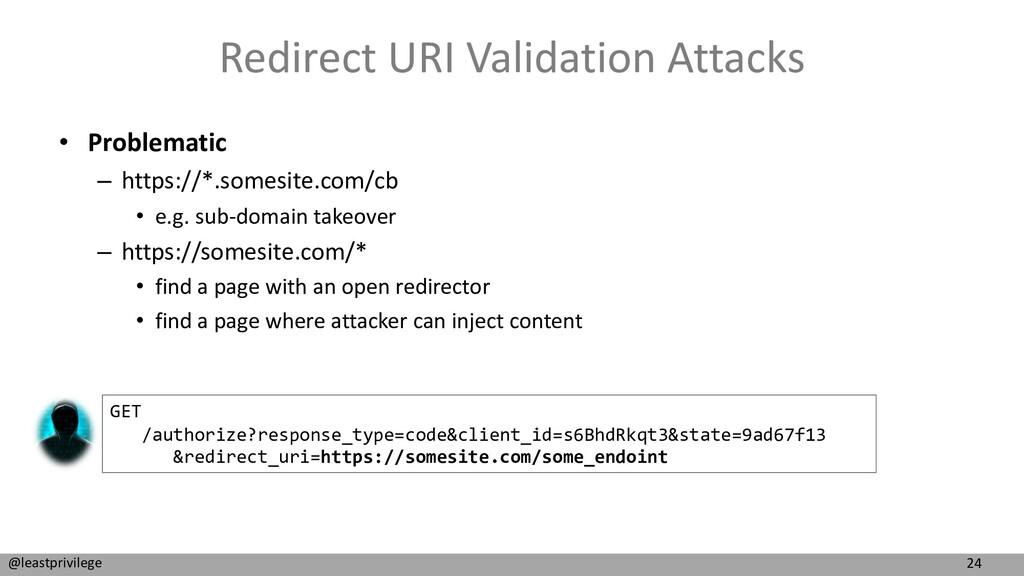 24 @leastprivilege Redirect URI Validation Atta...