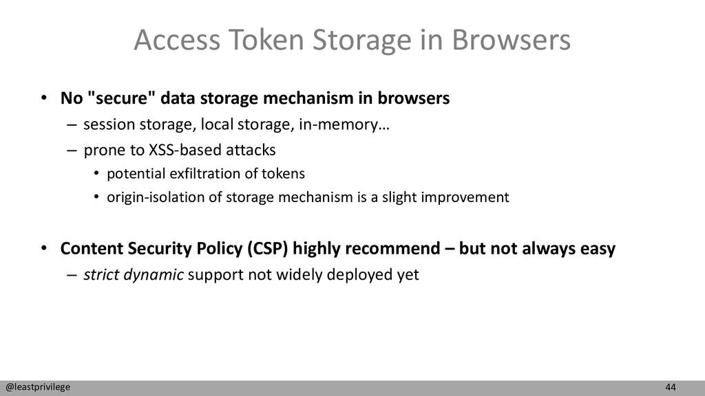 44 @leastprivilege Access Token Storage in Brow...