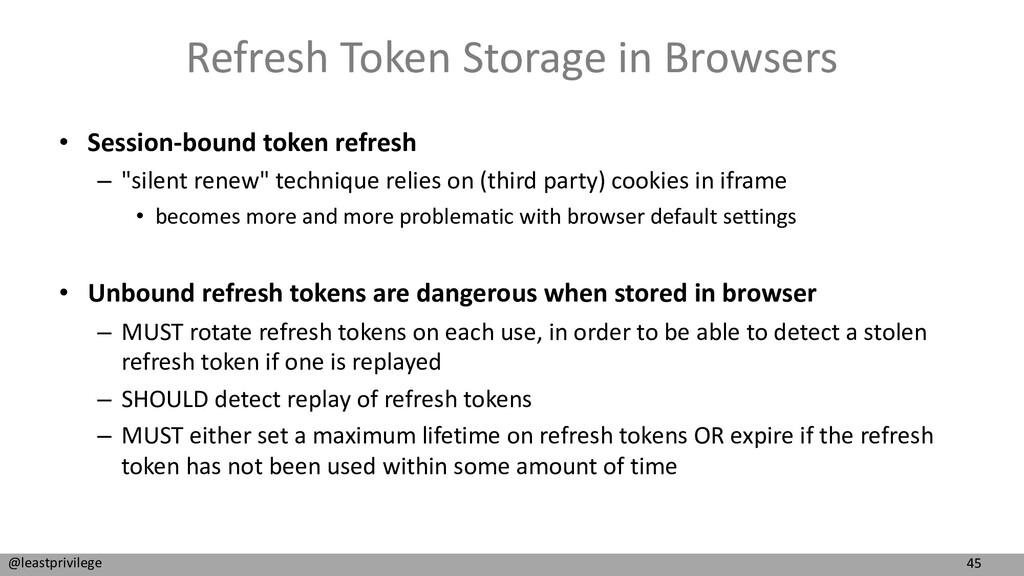 45 @leastprivilege Refresh Token Storage in Bro...