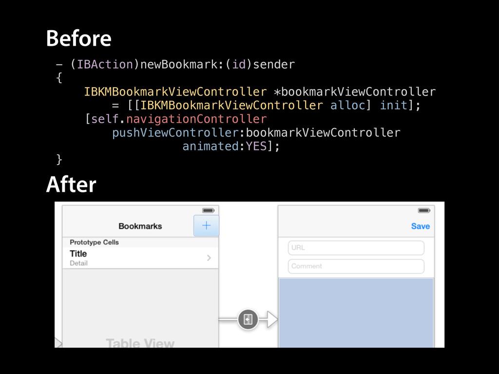 - (IBAction)newBookmark:(id)sender { IBKMBookma...