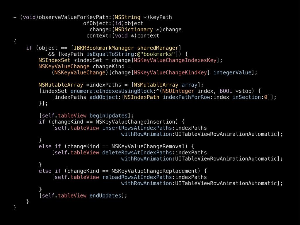 - (void)observeValueForKeyPath:(NSString *)keyP...