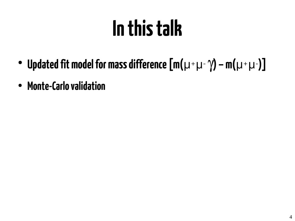 4 In this talk ● Updated fit model for mass dif...
