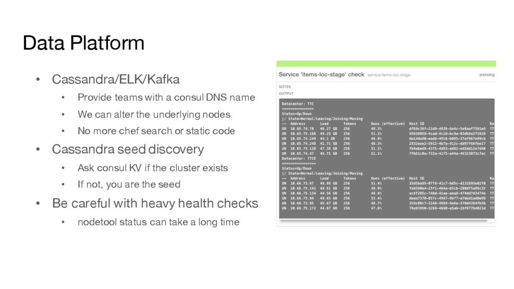 Data Platform • Cassandra/ELK/Kafka • Provide t...