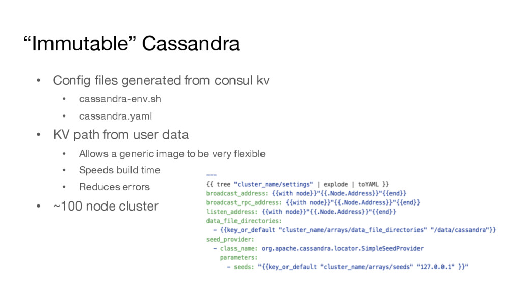 """Immutable"" Cassandra • Config files generated ..."