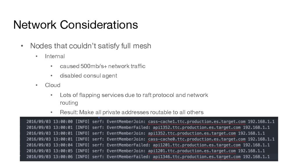 Network Considerations • Nodes that couldn't sa...