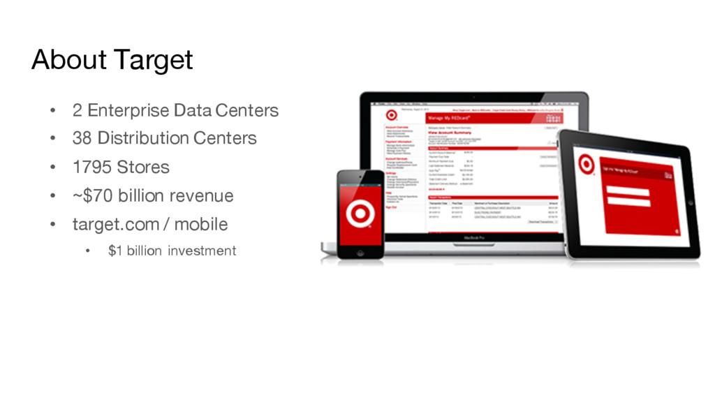 About Target • 2 Enterprise Data Centers • 38 D...
