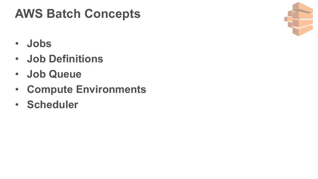 AWS Batch Concepts • Jobs • Job Definitions • J...