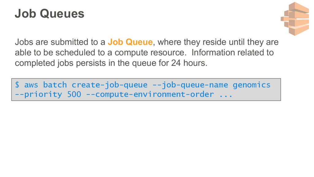 Job Queues Jobs are submitted to a Job Queue, w...