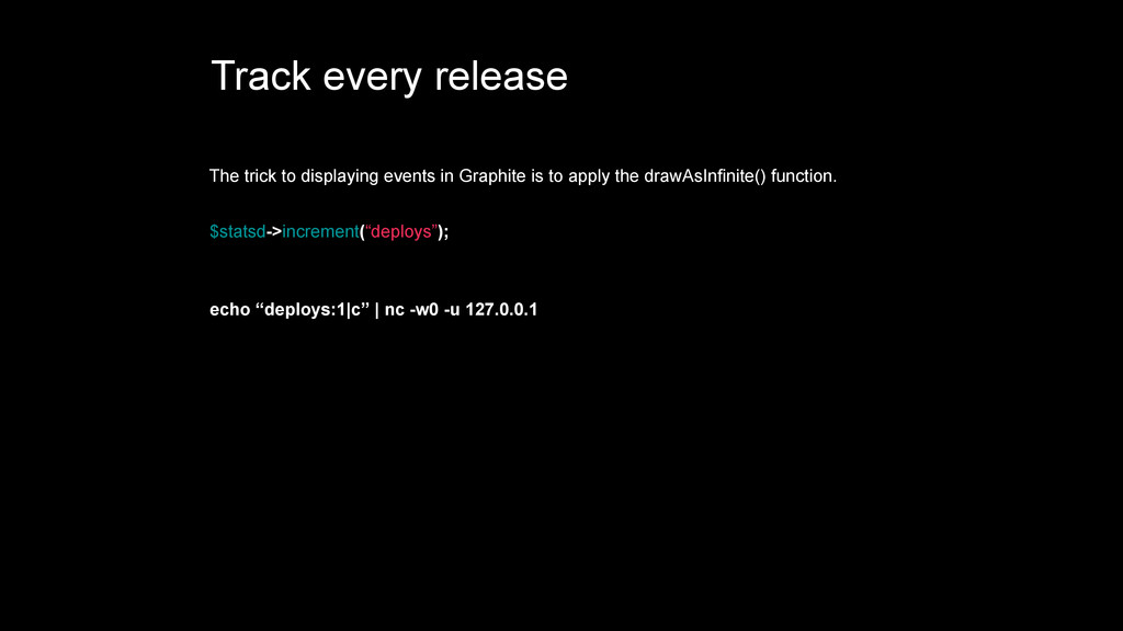 Track every release The trick to displaying eve...