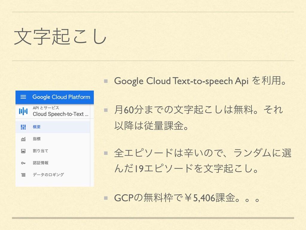 จى͜͠ Google Cloud Text-to-speech Api Λར༻ɻ ݄60...