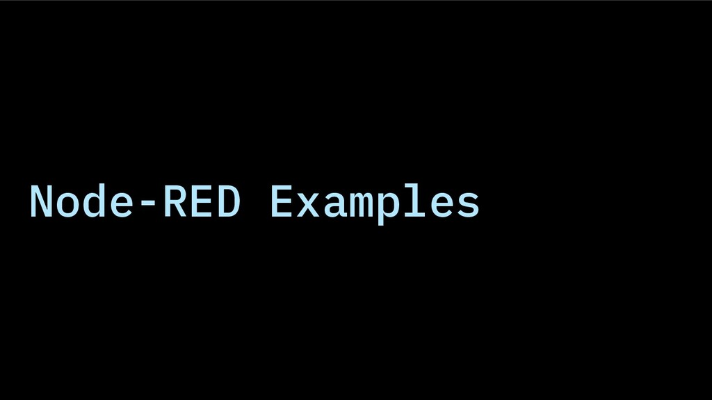 Node-RED Examples