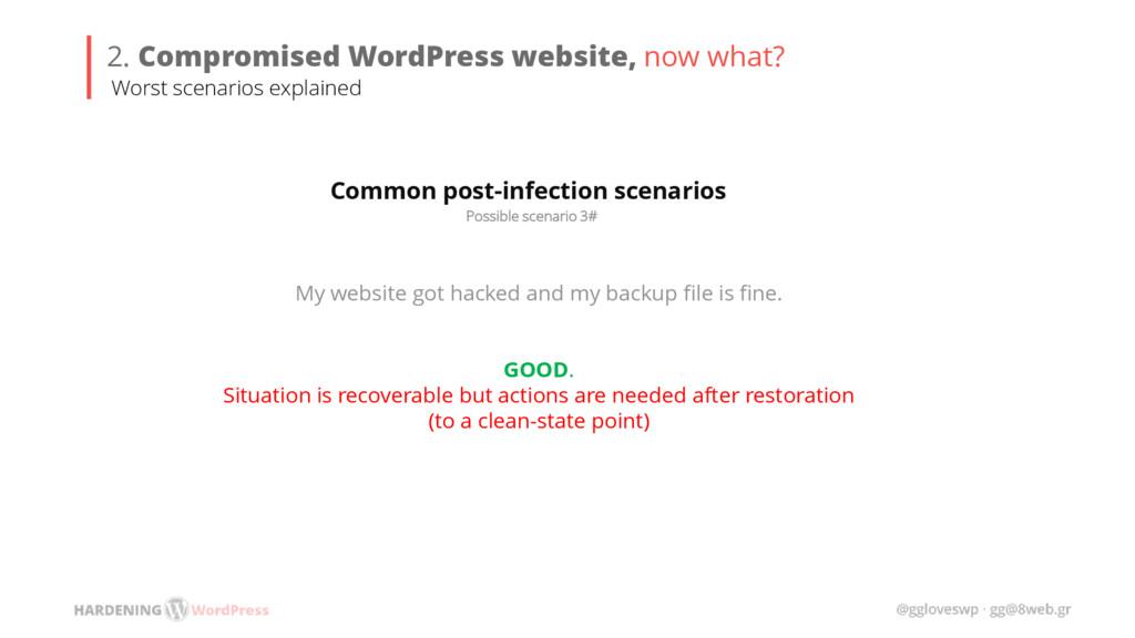 Possible scenario 3# Common post-infection scen...