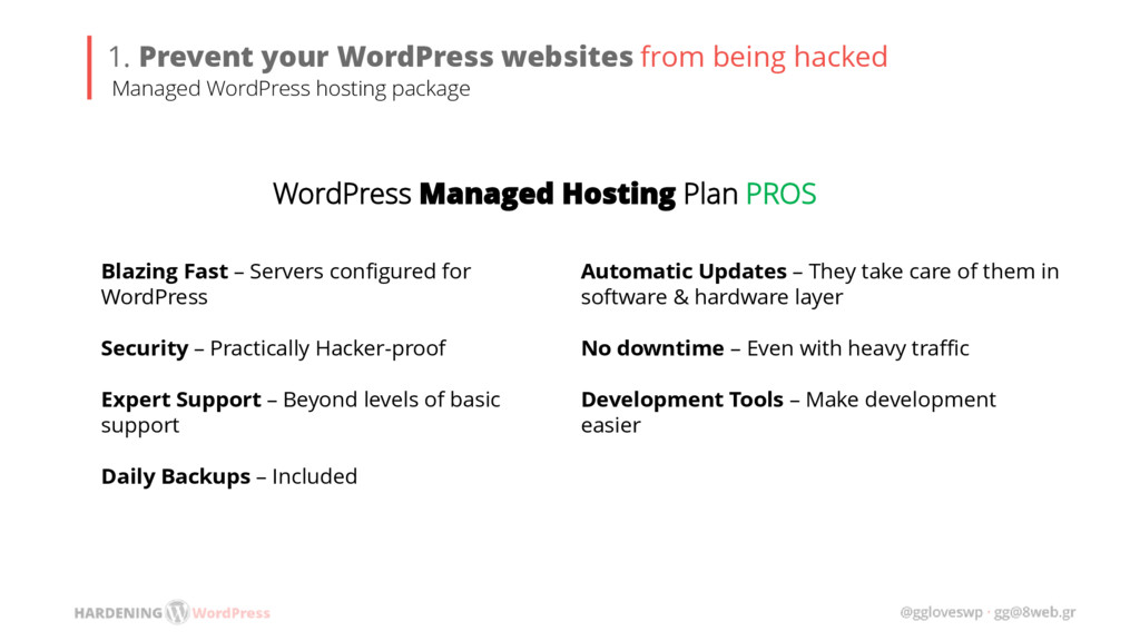 1. Prevent your WordPress websites from being h...