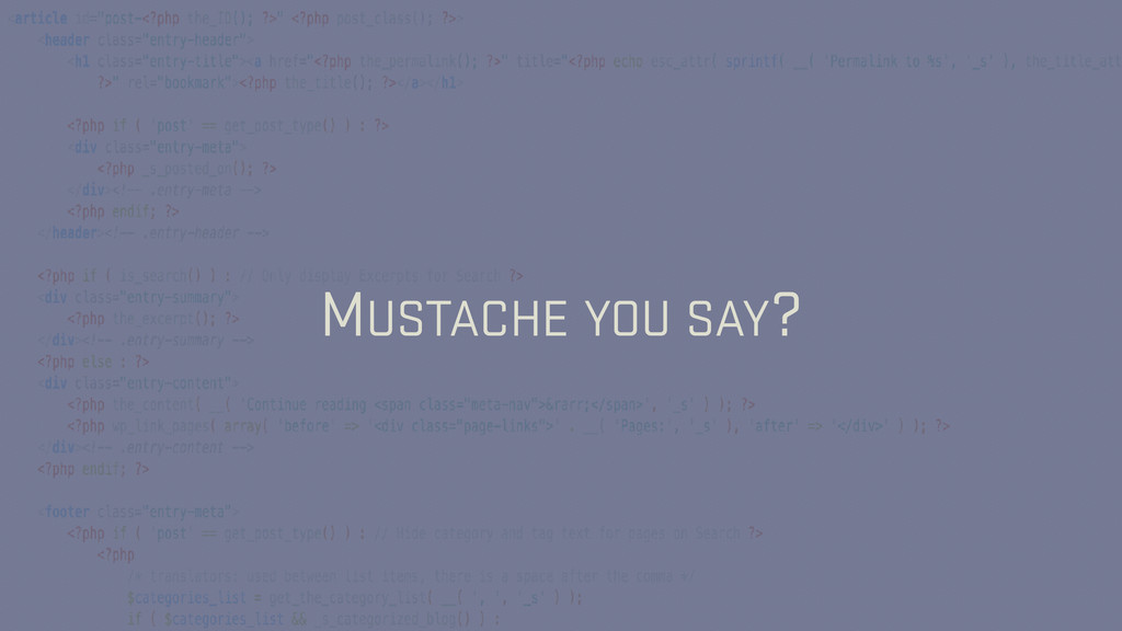 MUSTACHE YOU SAY?