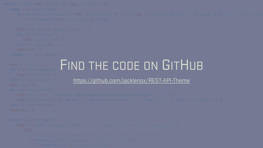 FIND THE CODE ON GITHUB https://github.com/jack...