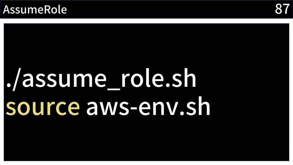 87 AssumeRole CI/CDの流れでデプロイするとき、 簡単にAssumeRoleし...