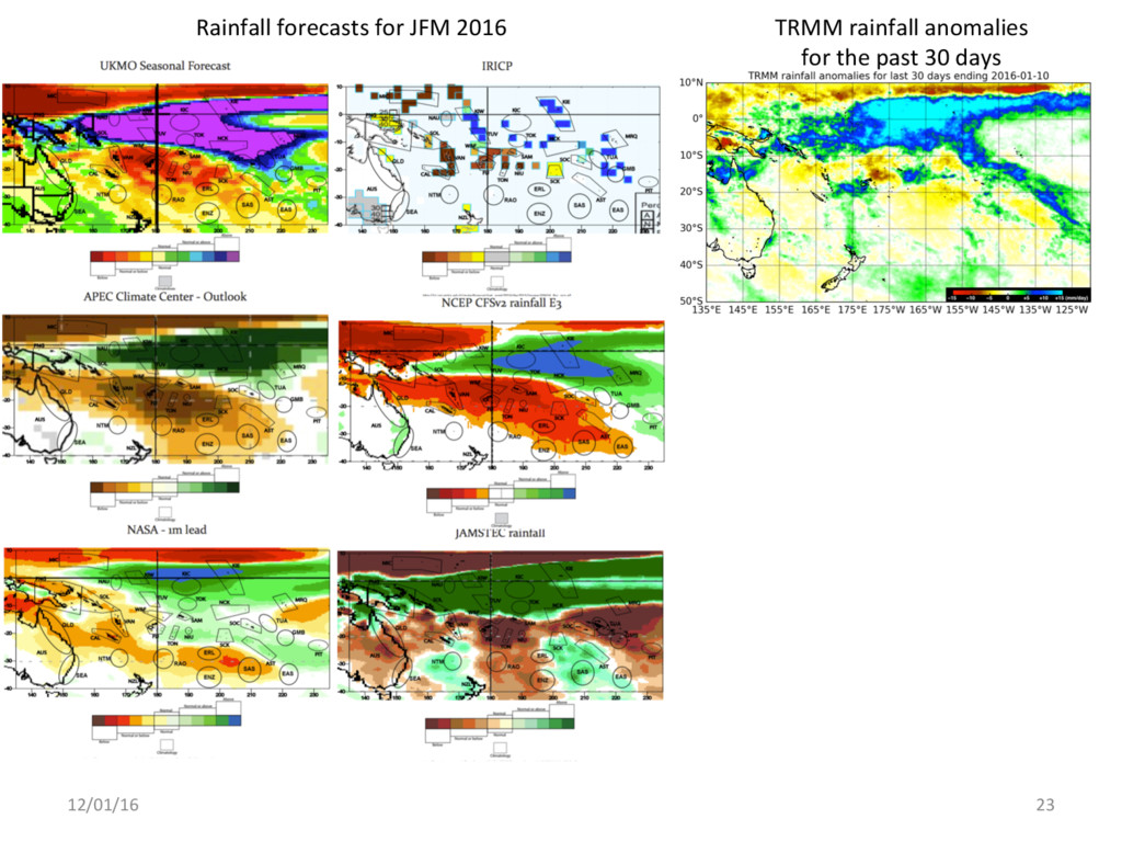 12/01/16 23 TRMM rainfall anomalies for the pas...