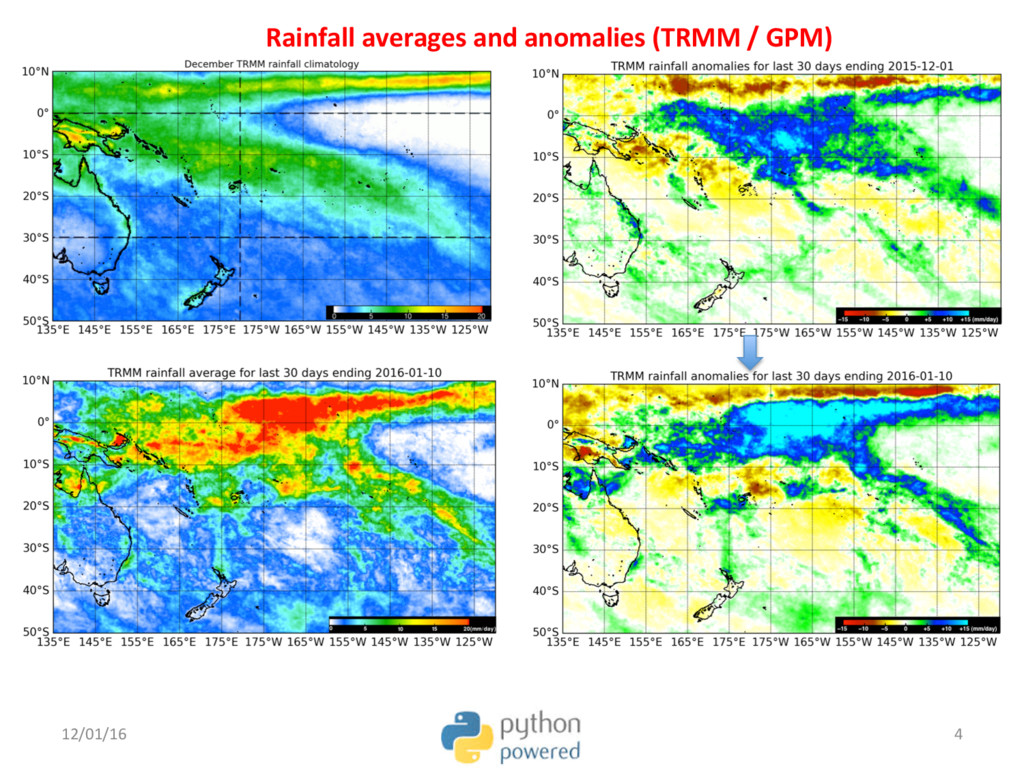 Rainfall averages and anomalies (TRMM / GPM) 12...