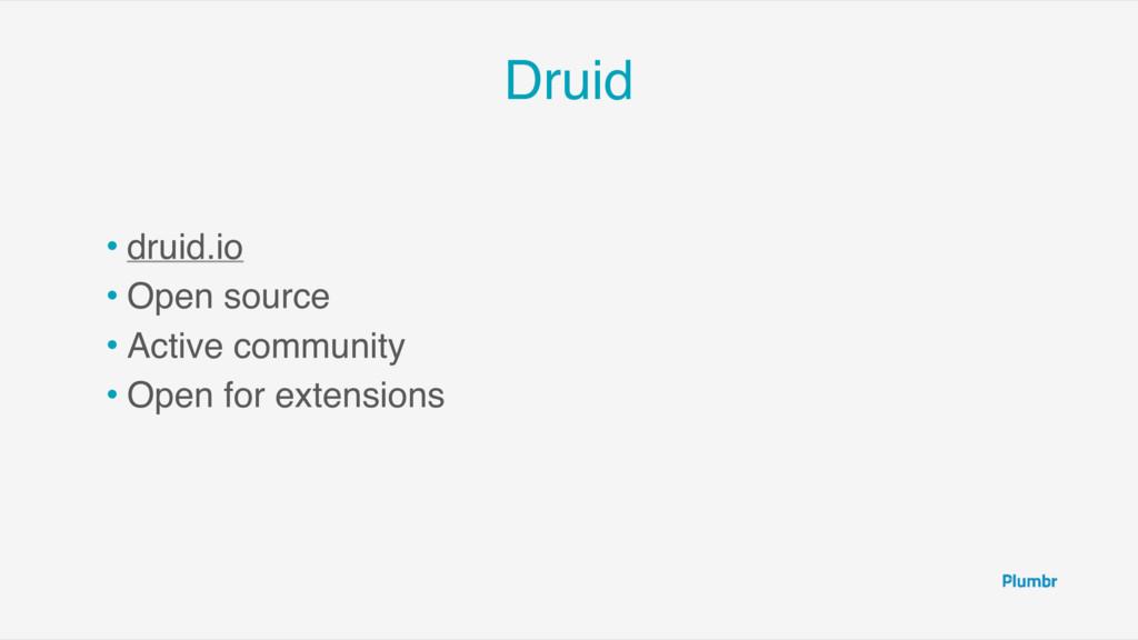 Druid • druid.io • Open source • Active communi...