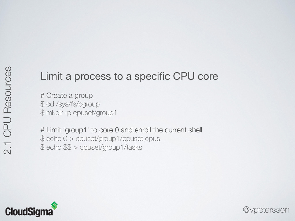 Limit a process to a specific CPU core  # Create...