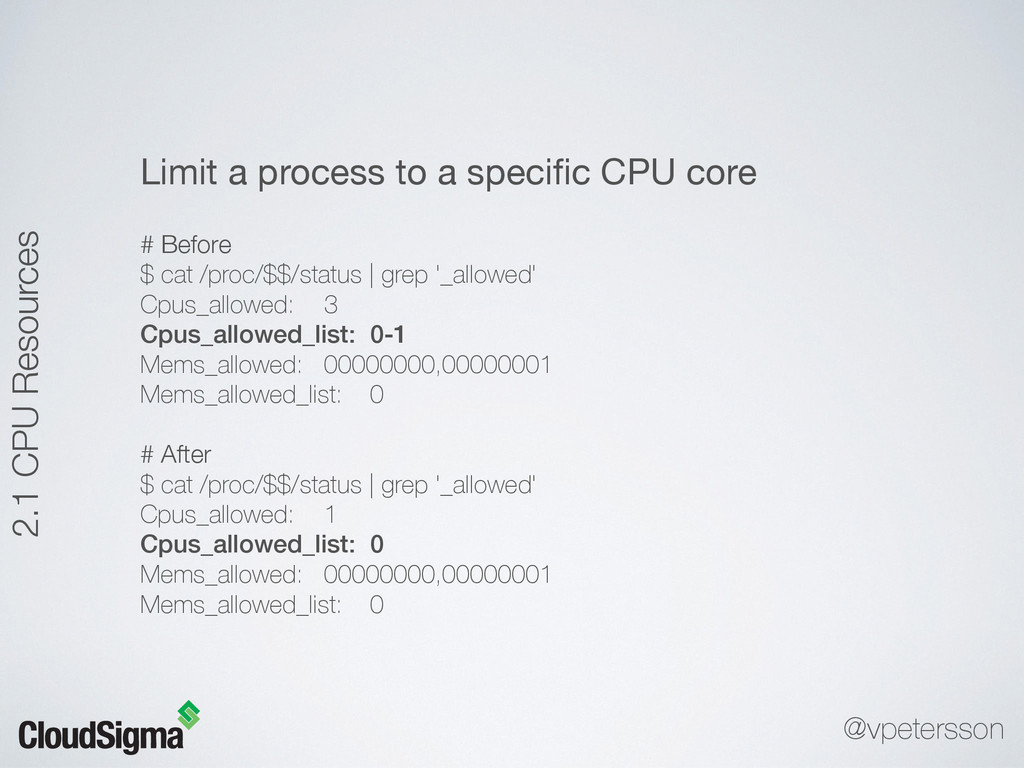 Limit a process to a specific CPU core  # Before...