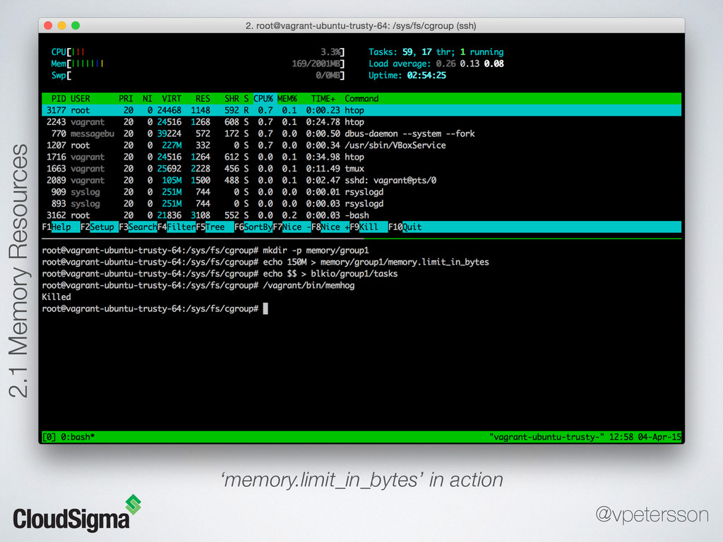 'memory.limit_in_bytes' in action 2.1 Memory Re...