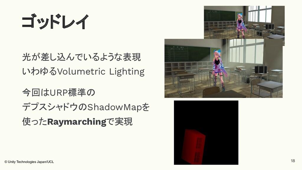 光が差し込んでいるような表現 いわゆるVolumetric Lighting 今回はURP標準...
