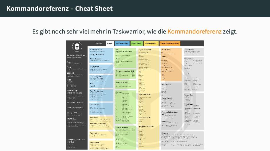 Kommandoreferenz – Cheat Sheet Es gibt noch seh...