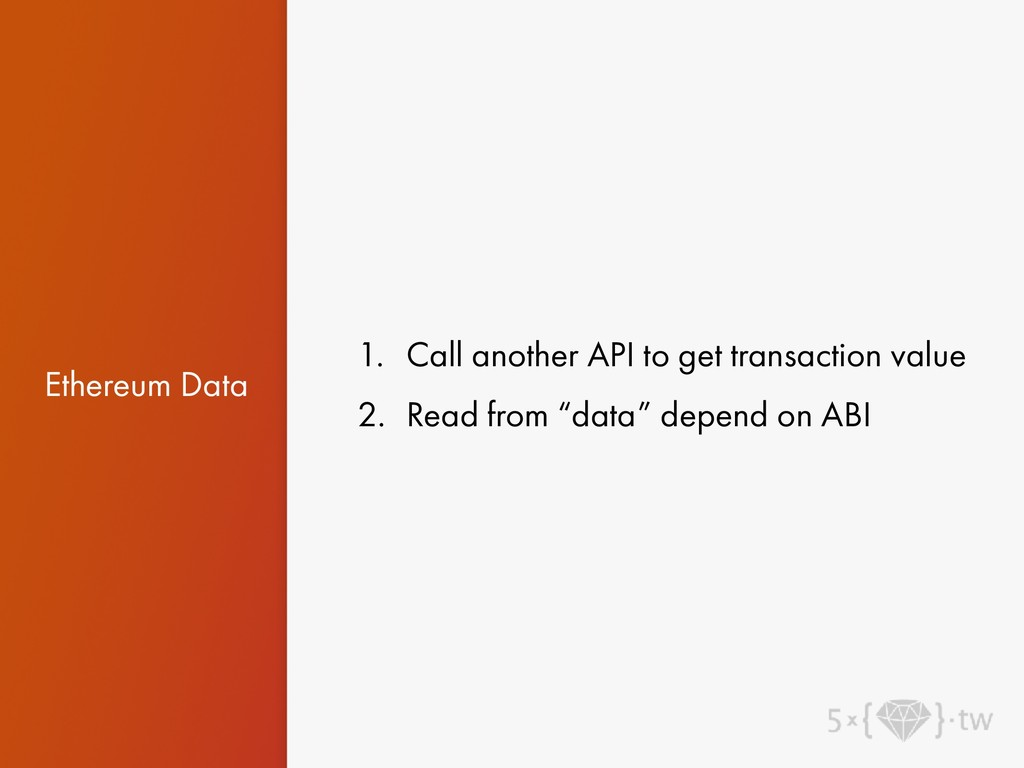 Ethereum Data 1. Call another API to get transa...