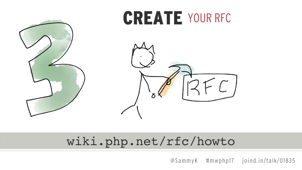 YOUR RFC CREATE wiki.php.net/rfc/howto @SammyK ...