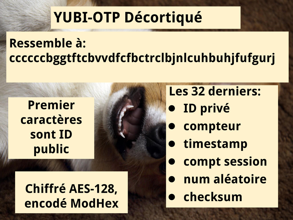 YUBI-OTP Décortiqué Ressemble à: ccccccbggtftcb...