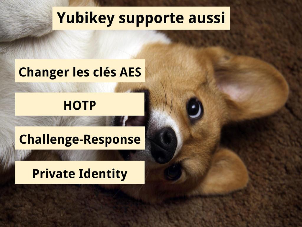 Yubikey supporte aussi Changer les clés AES HOT...