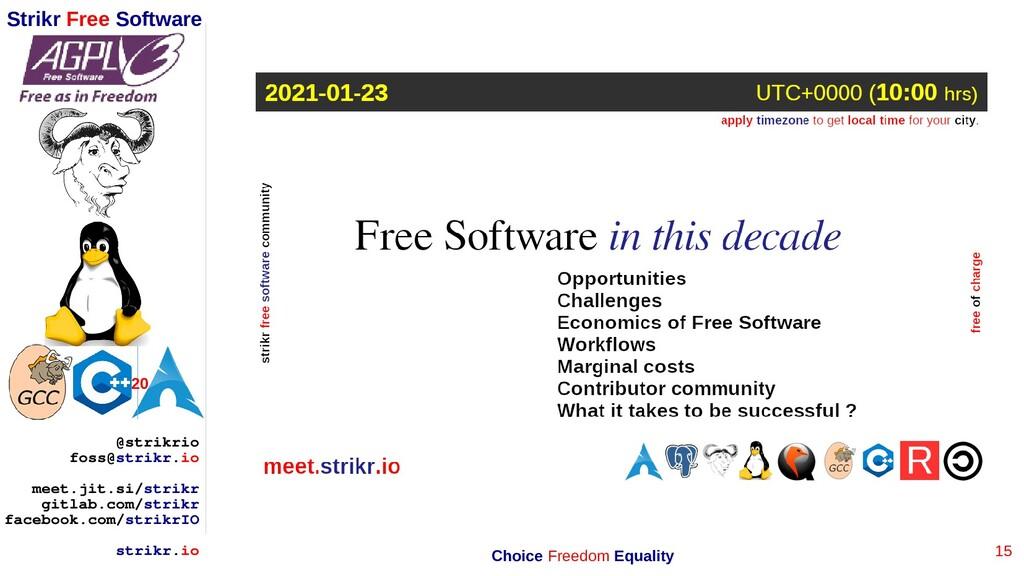 15 Strikr Free Software 20 @strikrio foss@strik...