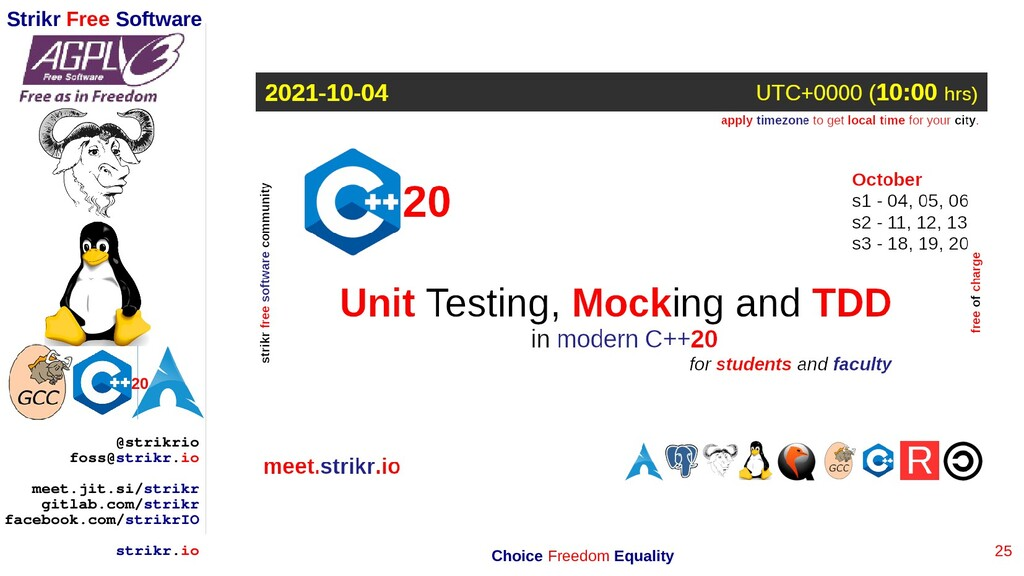 25 Strikr Free Software 20 @strikrio foss@strik...