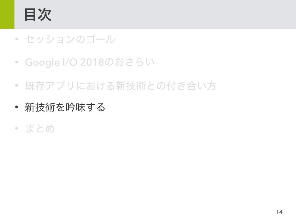  • ηογϣϯͷΰʔϧ • Google I/O 2018ͷ͓͞Β͍ • طଘ...