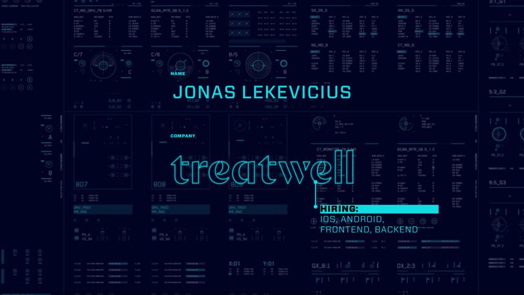 JONAS LEKEVICIUS NAME COMPANY HIRING: IOS, ANDR...