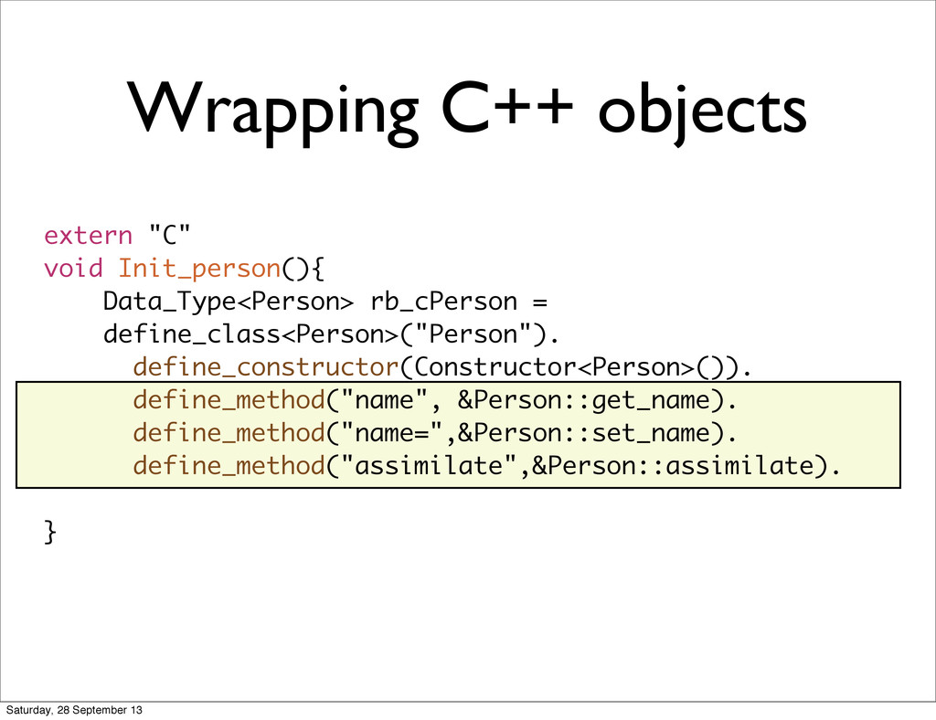 """Wrapping C++ objects extern """"C"""" void Init_perso..."""