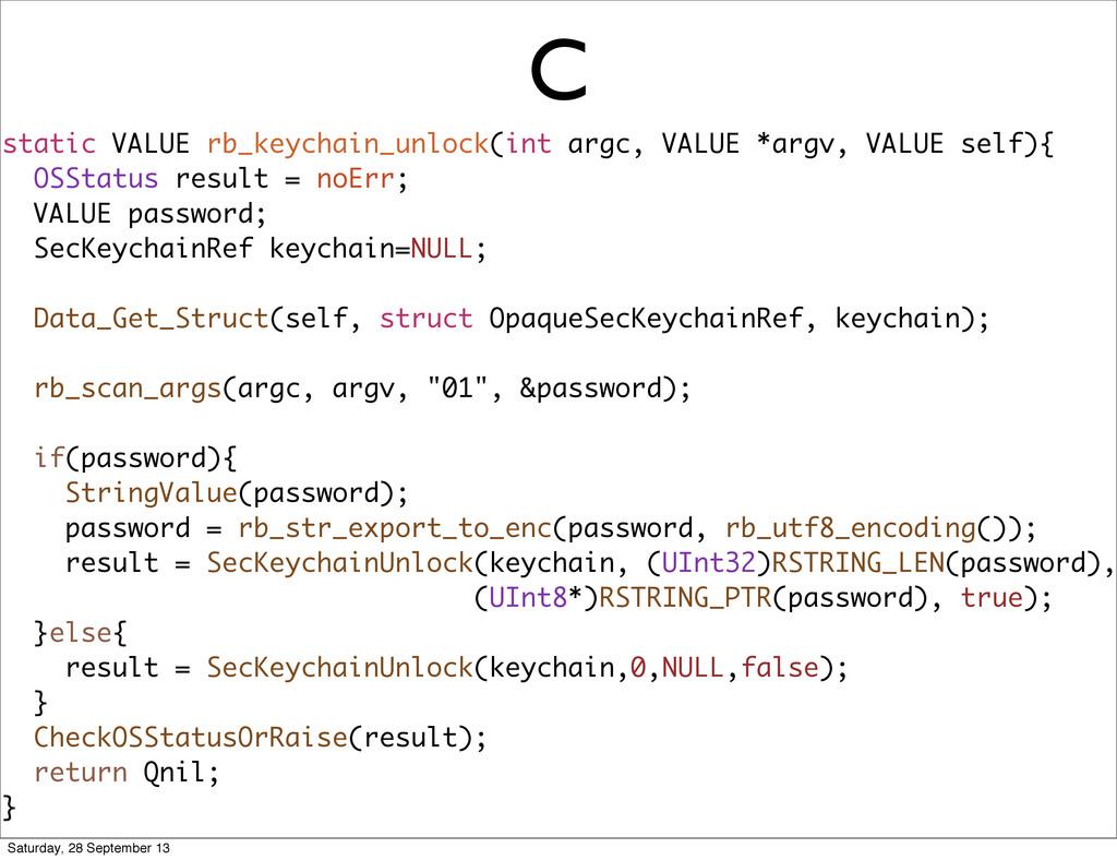C static VALUE rb_keychain_unlock(int argc, VAL...