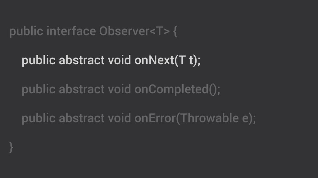 public interface Observer<T> { ! public abstrac...