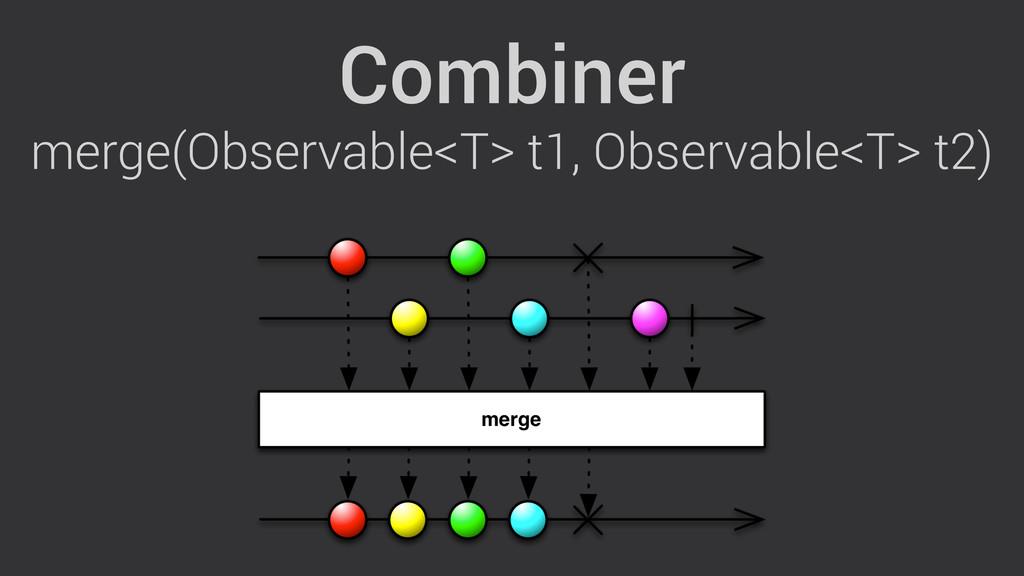 Combiner merge(Observable<T> t1, Observable<T> ...