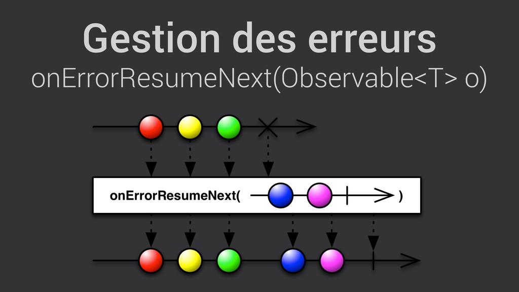Gestion des erreurs onErrorResumeNext(Observabl...