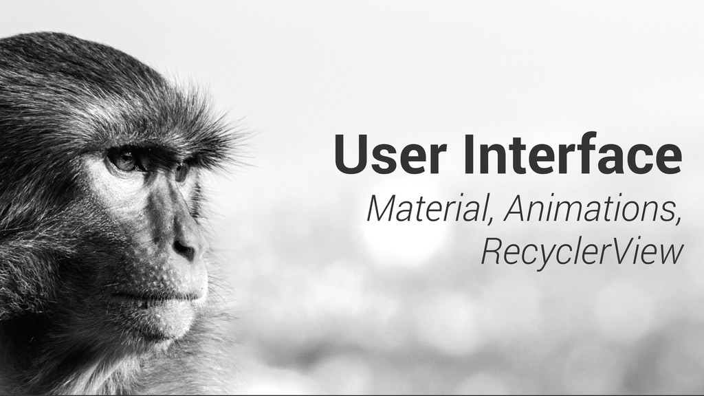 User Interface Material, Animations, RecyclerVi...
