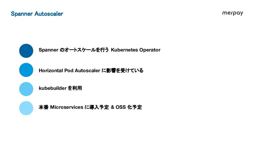 Spanner のオートスケールを行う Kubernetes Operator Horizon...