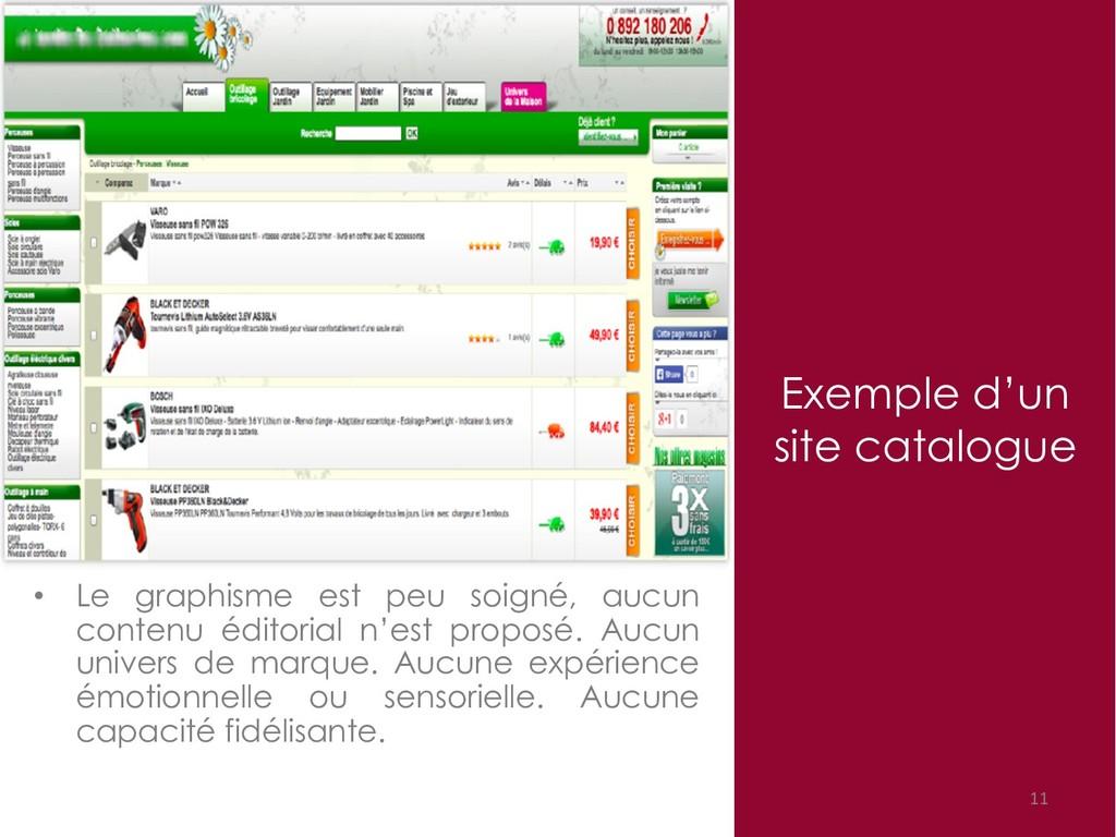 Exemple d'un site catalogue 11 • Le graphisme e...